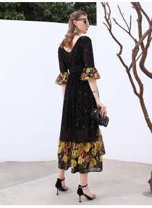 LADY'S  MEDIUM SLEEVE  ABAYA 19138