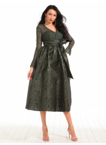 LADY'S LONG SLEEVE DRESS 19437