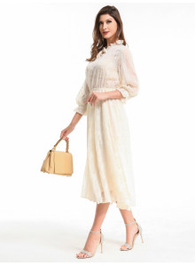 WOMEN'S DRESS THREE QUARTER SLEEVE 19489