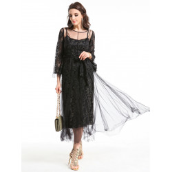 WOMEN'S  DRESS LONG SLEEVE  19497