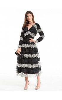 LADY'S  LONG SLEEVE DRESS 19503