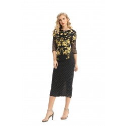 WOMEN'S  DRESS THREE QUARTER SLEEVE FASHION 19677