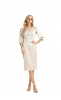 WOMEN'S  DRESS THREE QUARTERSLEEVE FASHION 19697
